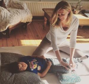 Shiatsu-therapie bij kinderen.